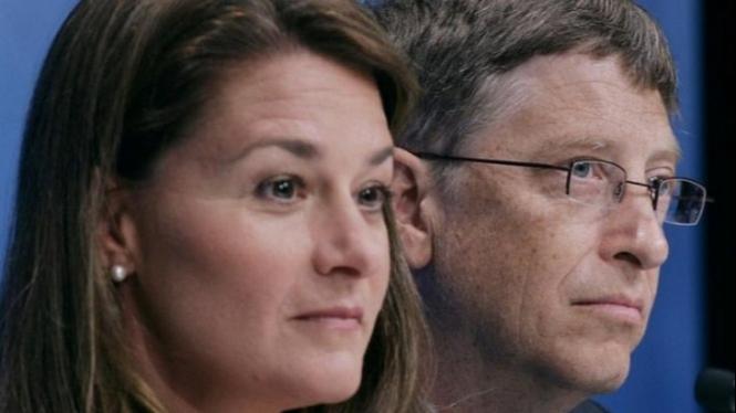 Bill Gates dan Melinda Gates.