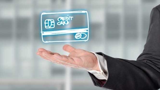 Ilustrasi virtual credit card.