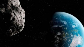 Ilustrasi Asteroid mendekati Bumi.