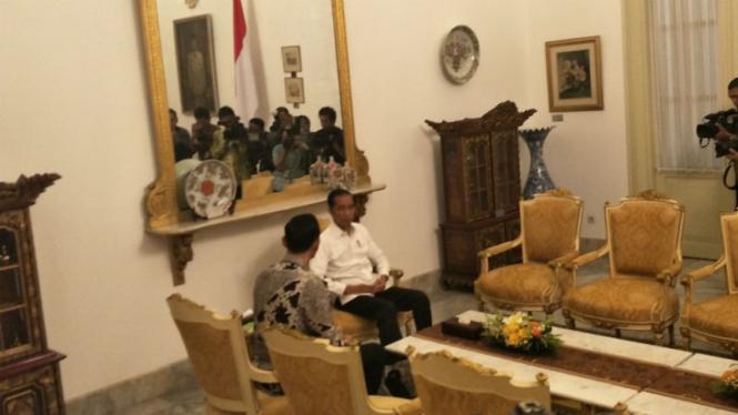 Presiden Jokowi temui AHY di Istana, Kamis, 2 Mei 2019
