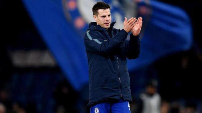 Pemain belakang Chelsea, Cesar Azpilicueta