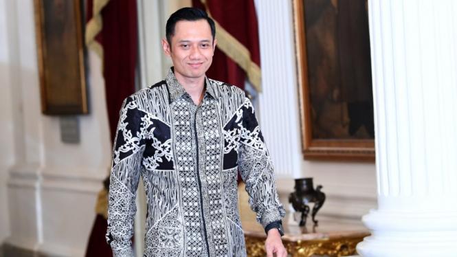 Agus Harimurti Yudhoyono usai bertemu Presiden Jokowi di Jakarta beberapa waktu lalu.