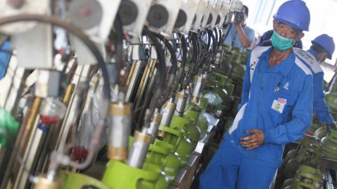 Stok Persediaan Tabung Gas Elpiji Jelang Ramadan