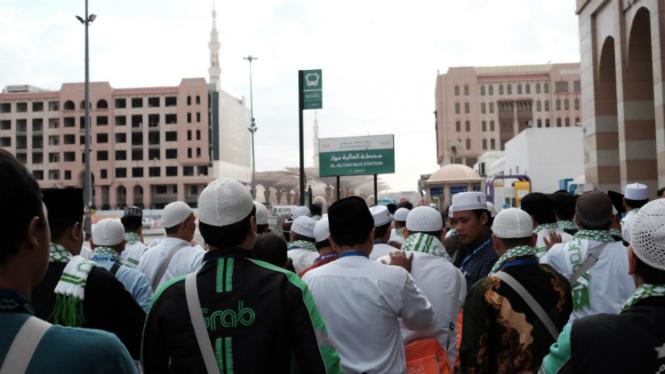 Mitra pengemudi GrabBike di Tanah Suci Makkah
