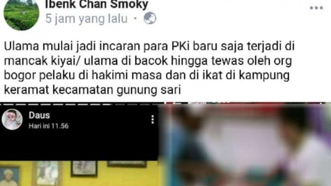 Hoax di Banten soal ulama dibantai PKI