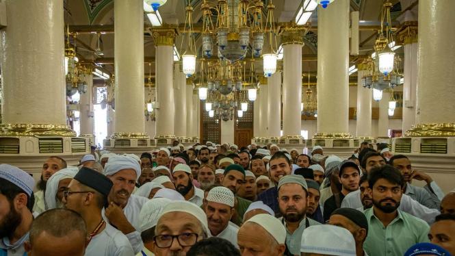 Raudhatun Jannah/Raudhah (Taman Surga) di Masjid Nabawi