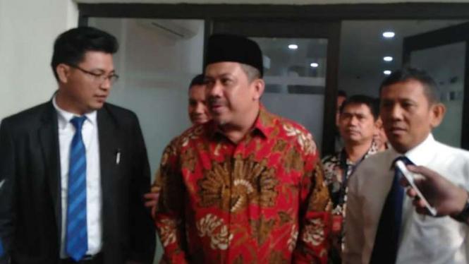 Wakil Ketua DPR Fahri Hamzah di Pengadilan Negeri Jakarta Selatan.