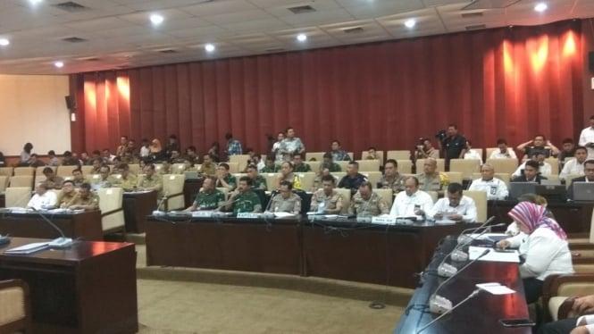 Kapolri Jenderal Tito Karnavian saat menggelar Rapat dengan anggota DPD RI