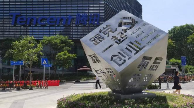Kantor pusat Tencent.
