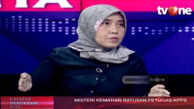 dokter Ani Hasibuan yang ikut mempertanyakan kematian ratusan petugas KPPS.