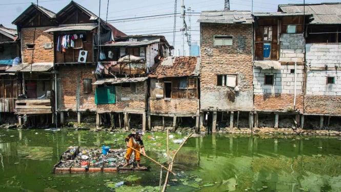 Kawasan pemukiman warga miskin kota (Foto Ilustrasi).