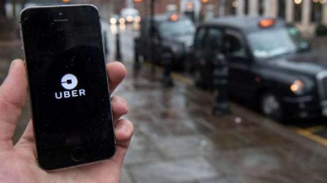 Aplikasi Uber.