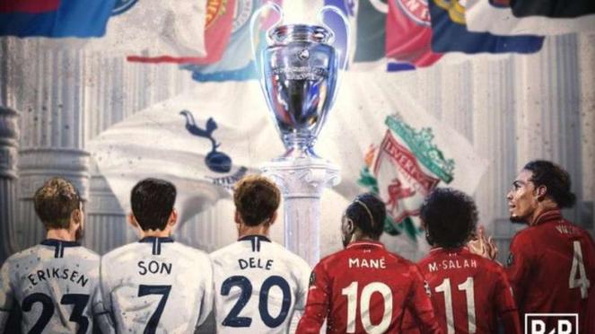 Ilustrasi pertarungan partai puncak Liga Champions 2018/19