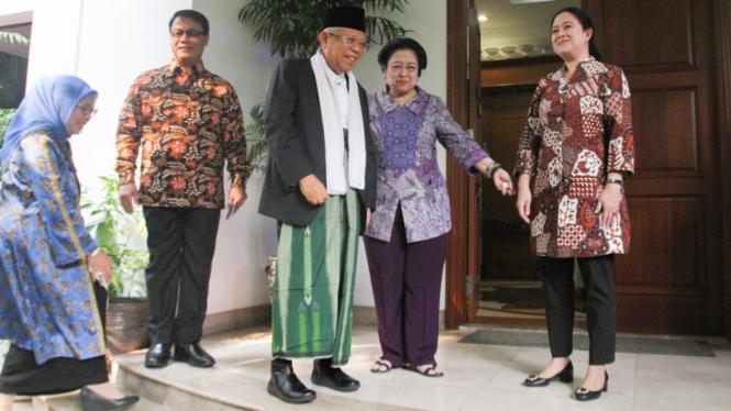 Pertemuan KH.Ma'ruf Amin dengan Megawati