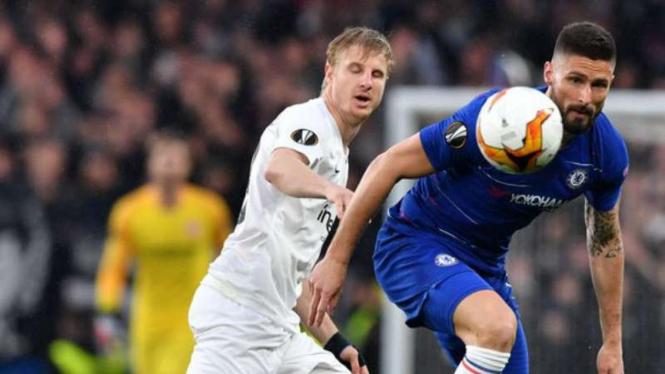 Duel Chelsea vs Eintacht Frankfurt.