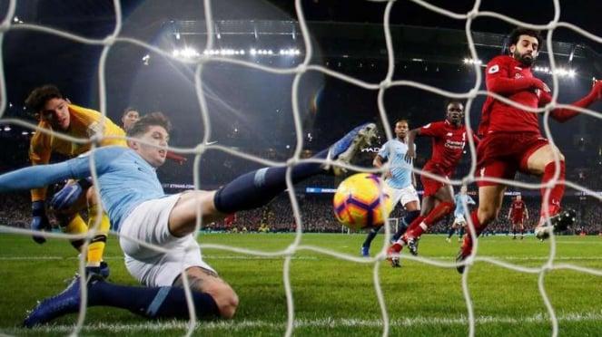 Pertandingan Premier League antara Manchester City melawan Liverpool
