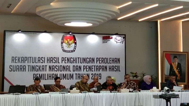KPU melanjutkan rekapitulasi hasil penghitungan perolehan suara tingkat nasional