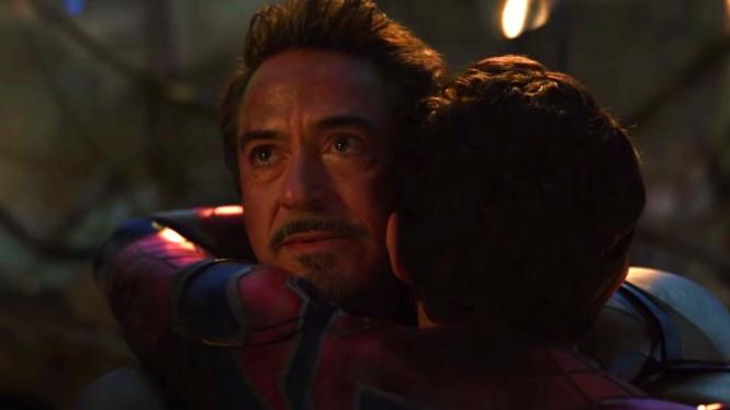 Iron Man dan Spider-Man dalam Avengers: Endgame