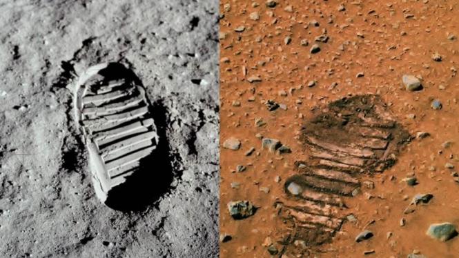 Jejak kaki di Mars