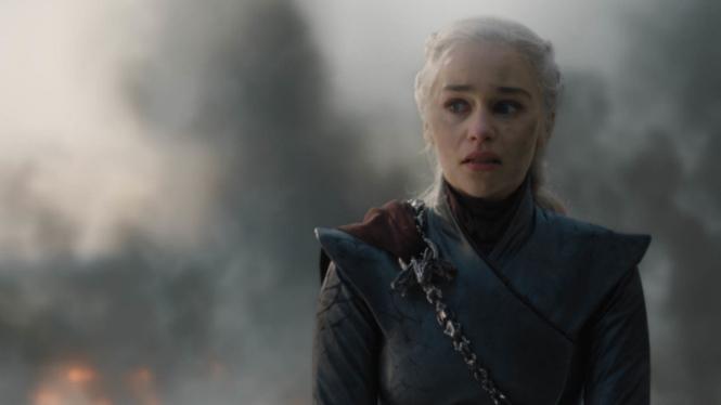 Daenerys Targaryen (Emilia Clarke) dalam Game of Thrones Season 8.