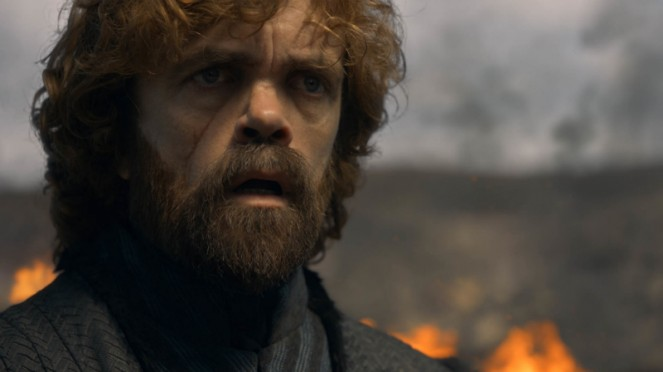 Tyrion Lannister (Peter Dinklage)  dalam Game of Thrones Season 8.