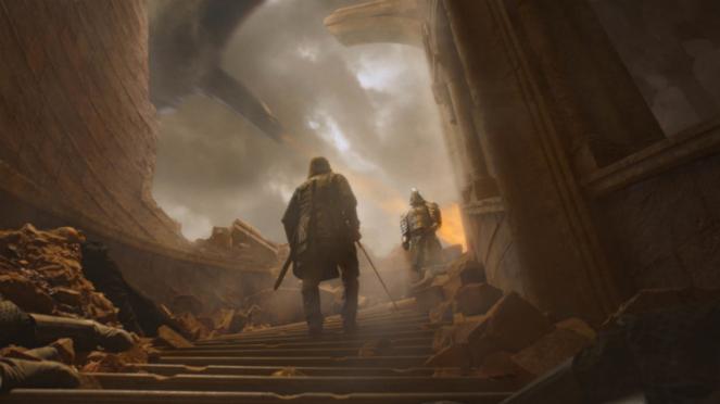 The Hound dan The Mountain dalam Game of Thrones Season 8.