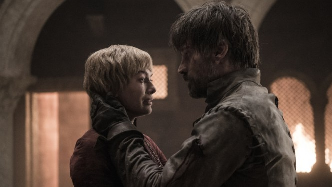 Cersei dan Jaime Lannister dalam Game of Thrones Season 8.