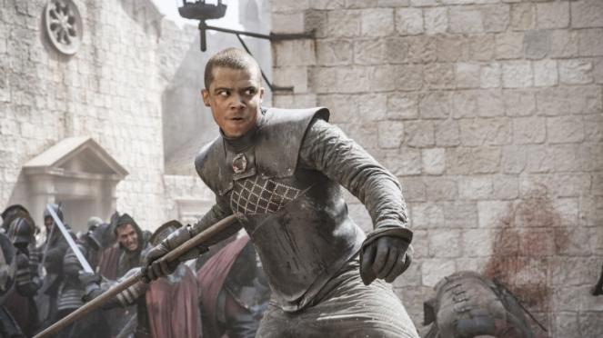 Grey Worm (Jacob Anderson) di Game of Thrones Season 8.