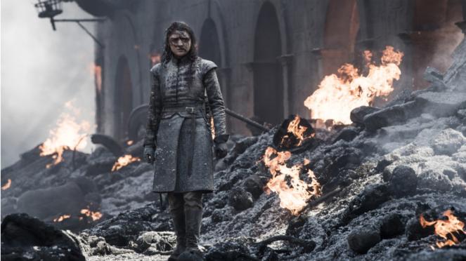Arya Stark (Maisie Williams) dalam Game of Thrones Season 8.
