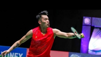 Lin Dan di All England Open 2019.