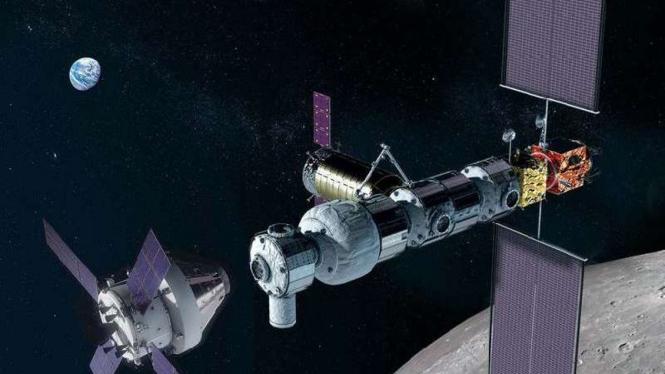 Ilustrasi pesawat ruang angkasa NASA.