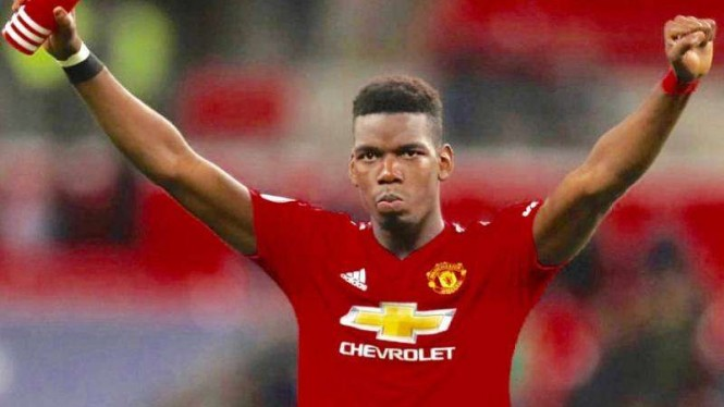 Gelandang Manchester United, Paul Pogba
