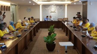 Ikatan Keluarga Besar (IKB) Universitas Indonesia temui pimpinan DPR, Selasa, 14 Mei 2019.