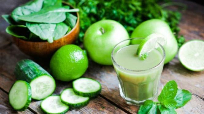 Ilustrasi jus hijau.