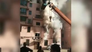 Kabakaran apartemen di Provinsi Liaoning, China