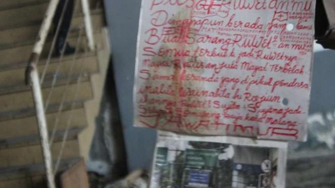 Pesan misterius di lokasi penemuan korban mutilasi Pasar Besar Malang