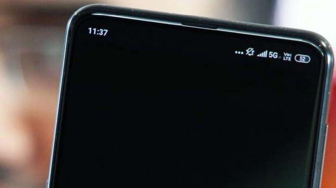 Ilustrasi ponsel 5G.
