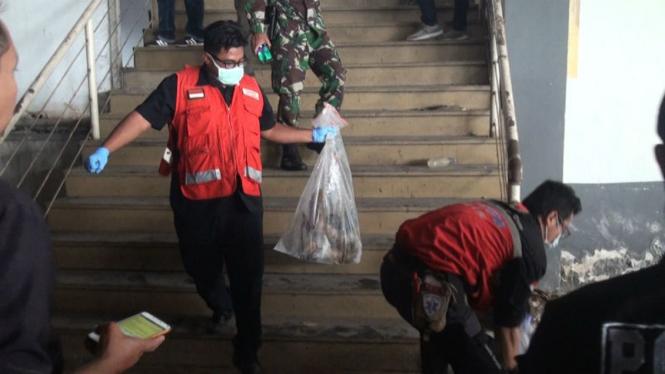 Polisi olah TKP di lokasi mutilasi di Malang