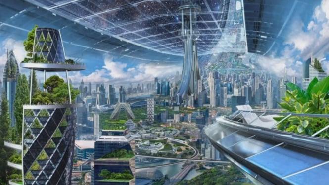Gambaran bangunan luar angkasa