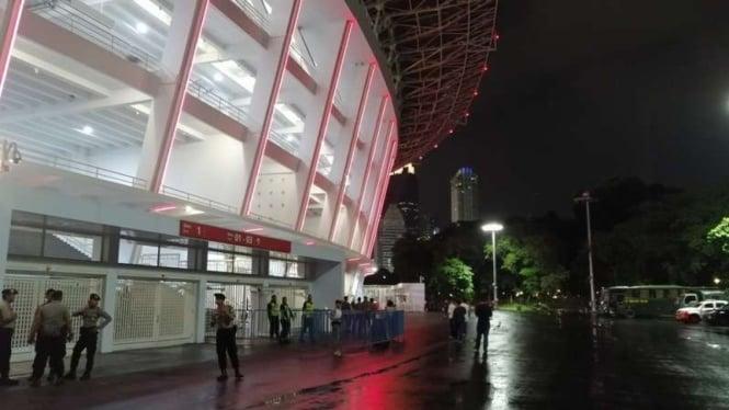 Suasana Stadion Gelora Bung Karno pada saat duel Persija vs Shan United.