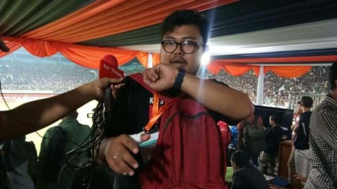Seorang jurnalis menjadi korban kericuhan laga PSS Sleman vs Arema FC