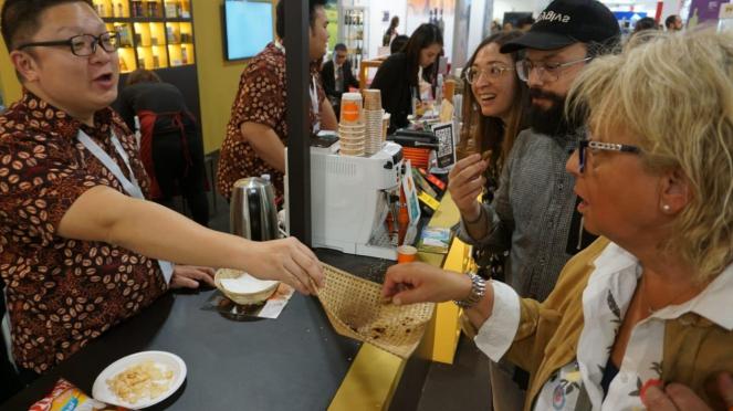 Indonesia ikut di pameran kuliner Italia.