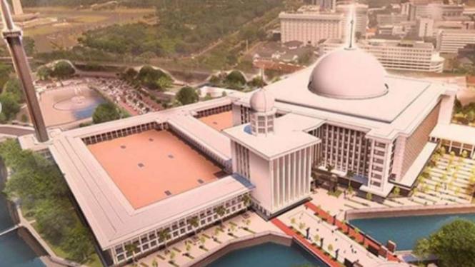 Konsep Desain Masjid Istiqlal saat di renovasi.