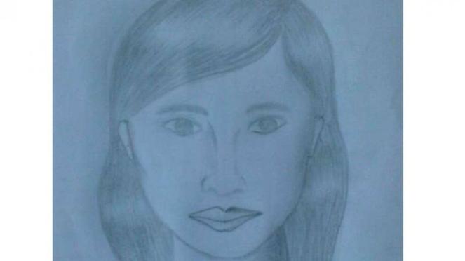 Gambar sketsa wajah korban mutilasi di Pasar Besar Malang, Jawa Timur.