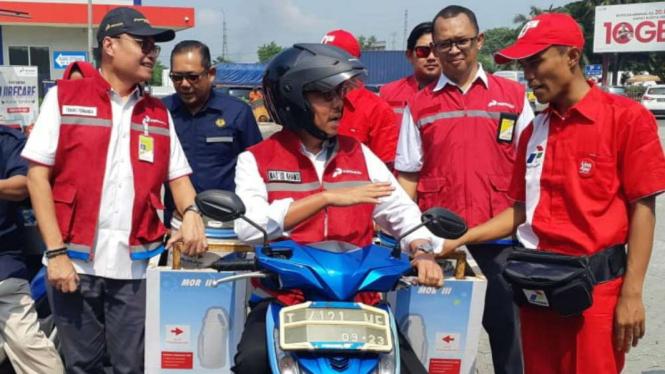 jelang Arus Mudik Pertamina siapkan BBM di sepanjang Jalan Tol Trans Jawa.