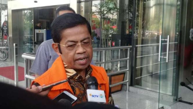Mantan Mensos Idrus Marham kembali diperiksa penyidik KPK.