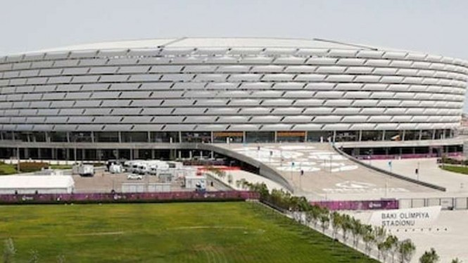 Venue Final Liga Europa 2018/19, Stadion Olimpiade Baku, Azerbaijan.