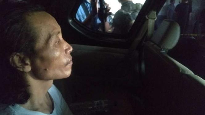 Sugeng (46), pelaku mutilasi wanita di Pasar Besar, Malang.