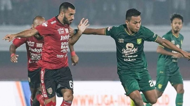 Pertandingan Liga 1 2019 antara Bali United kontra Persebaya Surabaya