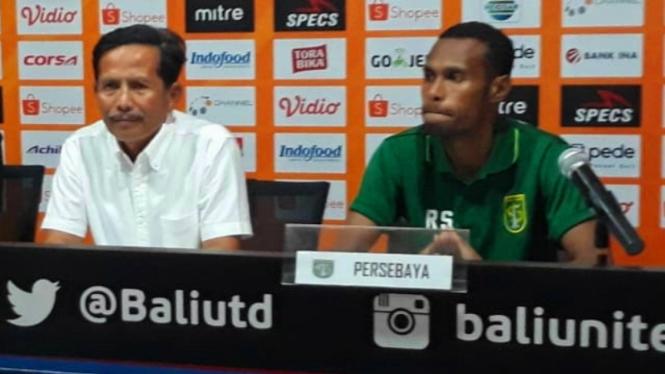 Pelatih Persebaya Surabaya, Djadjang Nurdjaman dan kapten Ruben Sanadi